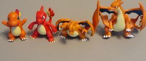 Pokemon Charmander Evolution Figurines-4 Pack